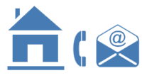 icoon die de  adresgegevens aangeven