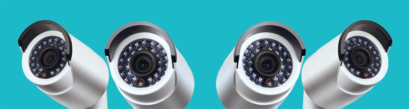 Afbeelding van 4 bewakingscamera's