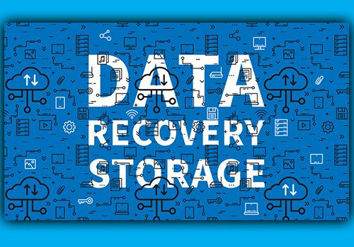 design afbeelding die data recovery moet uitbeelden