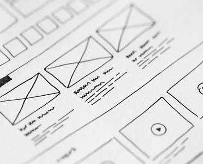 schematische, getekende weergave van de opzet van een website. Photo by picjumbo.com from Pexelsn